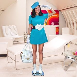 "Dresses & Skirts - ""At Your Service"" Flight Attendant Looking Dress"