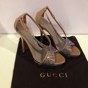 Gucci Swavorski Crystal Heels
