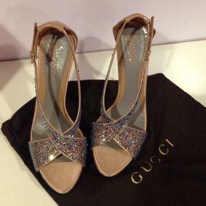 Gucci Shoes - Gucci Swavorski Crystal Heels