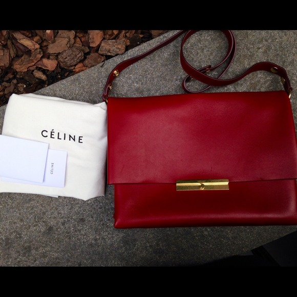 20% off Celine Handbags - ??SOLD??Celine Red Calfskin Blade ...