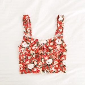 UO • Floral Bustier