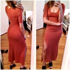 Alternative Apparel Dresses & Skirts - Alternative apparel sexy side slit  maxi dress