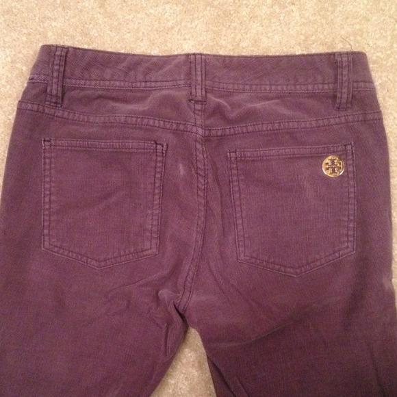Tory Burch Pants - Tory Burch purple corduroy skinny jeans