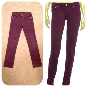 Tory Burch Pants - Tory Burch purple corduroy skinny jeans