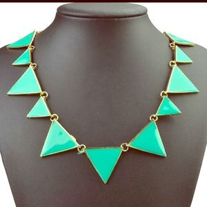 ⭐️NEW turquoise color triangle statement necklace