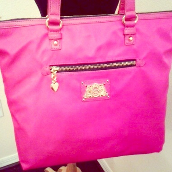 a913b9e90 Juicy Couture Handbags - Juicy Couture Pink Penny Nylon Tote