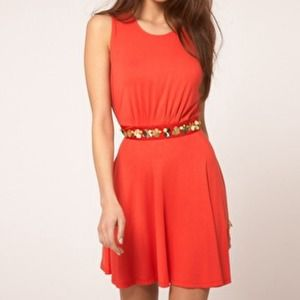 ASOS Dresses & Skirts - ASOS Skater Dress With Floral Embellishment