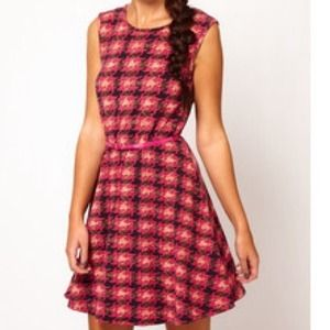 ASOS Dresses & Skirts - SOLD-River Island Dogtooth Check Dress
