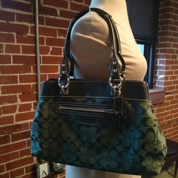 80% off Coach Handbags - Forest green Coach purse from Melody's ...