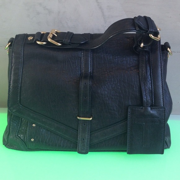 1f257ac05cf5 Authentic Tory Burch 797 Black Leather Medium!! M 537e87a23ddfd447fe08f79a
