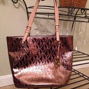 Michael Kors Mirror Metallic Tote