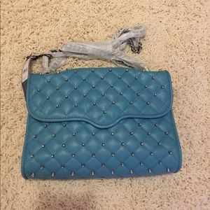 NWT Rebecca minkoff studed affair color teal