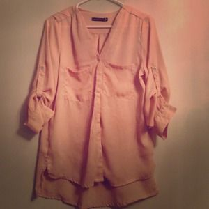 Pale peach blouse