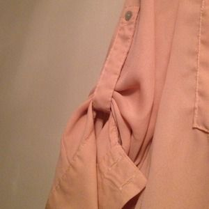 Tops - Pale peach blouse