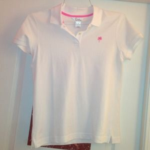 Lilly Pulitzer White Polo
