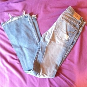 American eagle jeans with designer holes