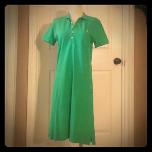 Ralph Lauren Sport green knit pullover dress