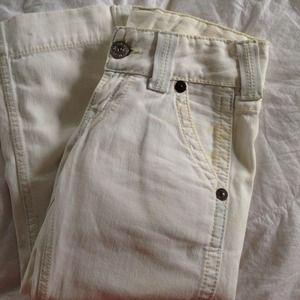 True Religion White Jeans (capris)