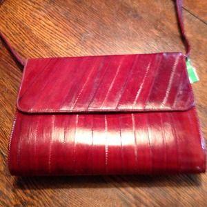 Handbags - Vintage authentic eel skin bag!!!