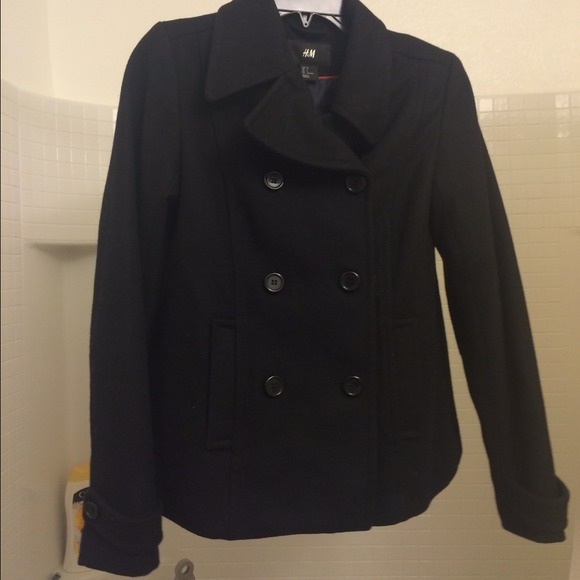 H&M Jackets & Coats - Classic Black H&M Peacoat Coat Jacket