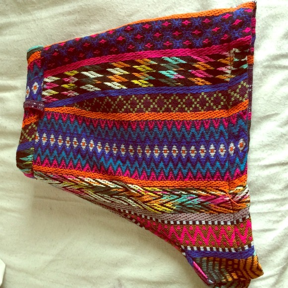 44% off Angie Pants - Angie High Waisted Tribal Shorts. from ...