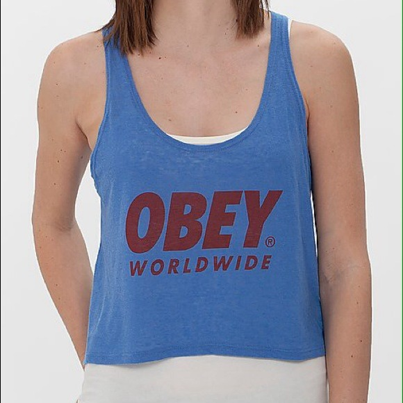 69 off obey tops obey crop tank top from katie 39 s. Black Bedroom Furniture Sets. Home Design Ideas