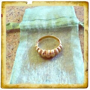 14K Yellow Gold Fluted Ring