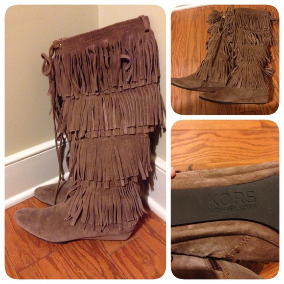Michael Kors - 🎉SALE🎉 KORS Michael Kors Suede Fringe Boot from ...