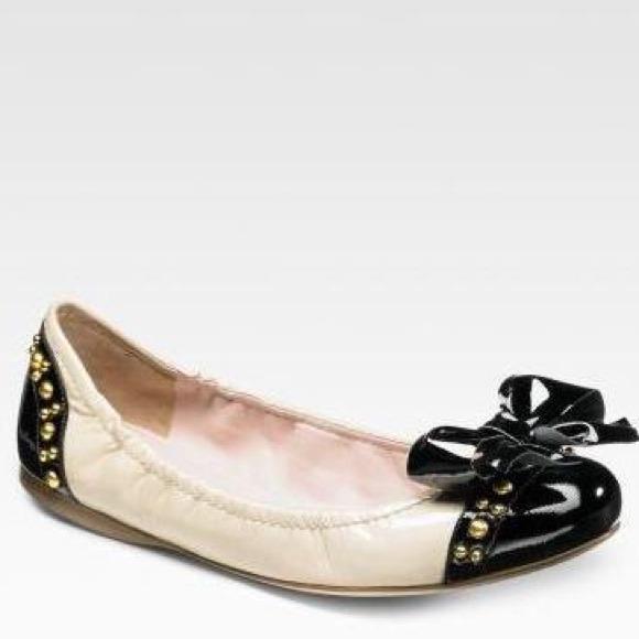 ae08787d254 🎉Sale 🎉Miu Miu Studded Bow Ballerina Flats. M 537ff7b72d249059a808d92e