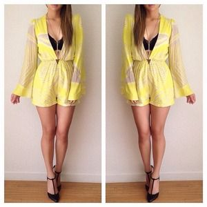Other - RESERVED.Neon tropical romper
