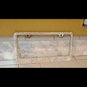 other crystal moonlight swarovski license plate frame
