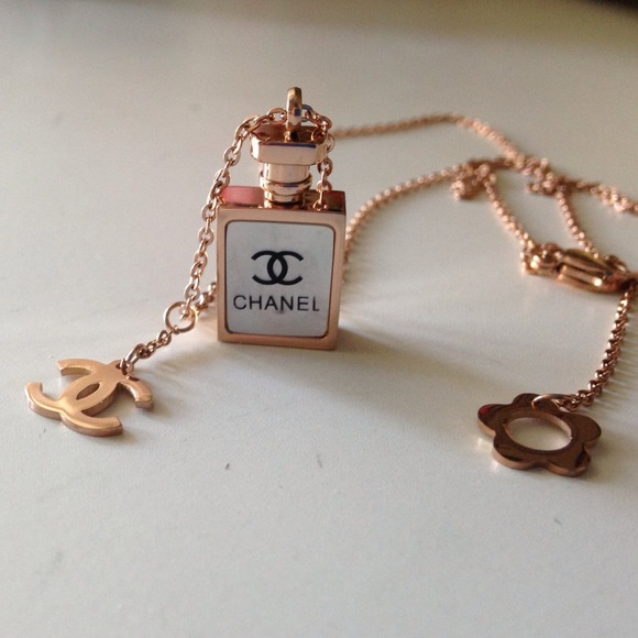 13 off CHANEL Jewelry Rose Gold Plated N5 Perfume Bottle Necklace