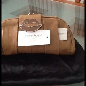 Yves Saint Laurent - YSL camel color beautiful leather clutch from ...