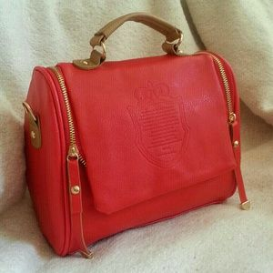 Clearance The British Top Handle Bag Red