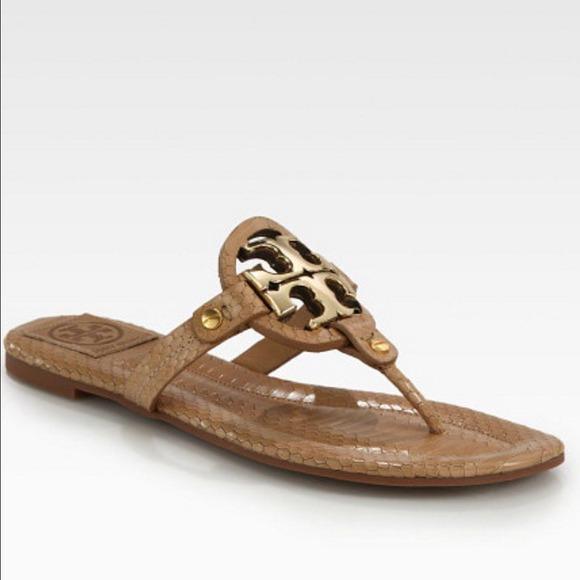 0e11e8ac3a47 Tory Burch Miller Snake Print Sandals. M 53814dafe381dc05720084bb
