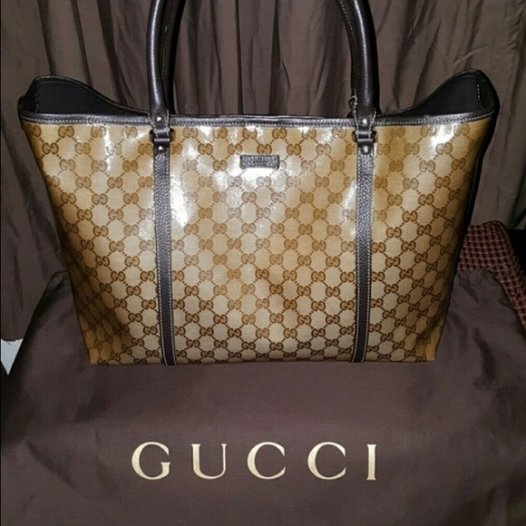 Gucci Bags   Large Crystal Tote Louis Vuitton Scarf   Poshmark 8a9542042b