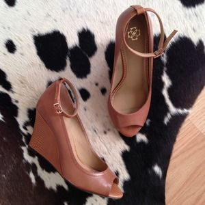 Ann Taylor Shoes - [REDUCED] Ann Taylor Peep Toe Wedges
