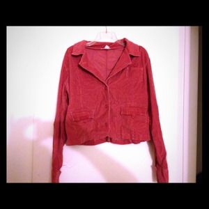 Red corduroy jacket