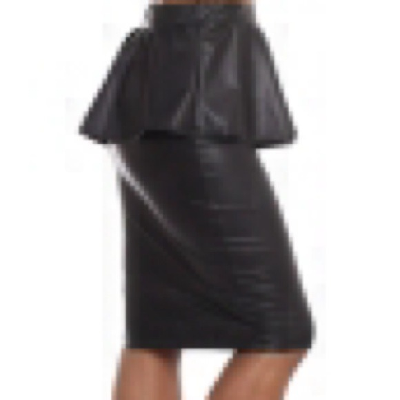 20% off Dresses & Skirts - Plus size faux leather skirt from ...