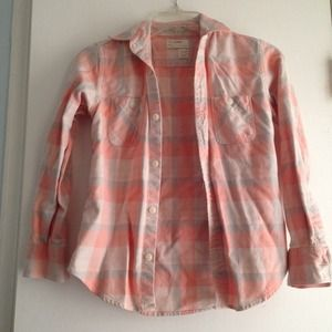 🌟REDUCED🌟JCrew Crewcuts Plaid Shirt, Size 10