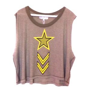 Wildfox army muscle tank