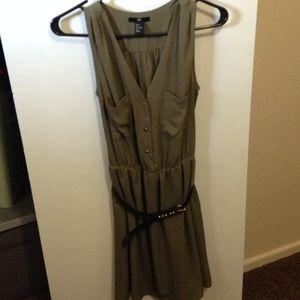 H&M army green dress