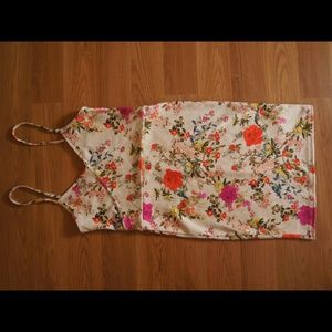 White Asos dress w/ floral print size 4 Nwot