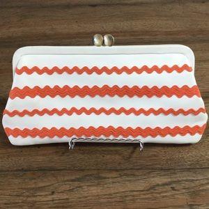 Cynthia Rowley Handbags - Retro Orange Leather Clutch