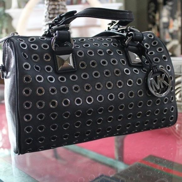 2fc28b5e53e3 Michael Kors Bags   Black Leather Grommet Grayson Rare   Poshmark