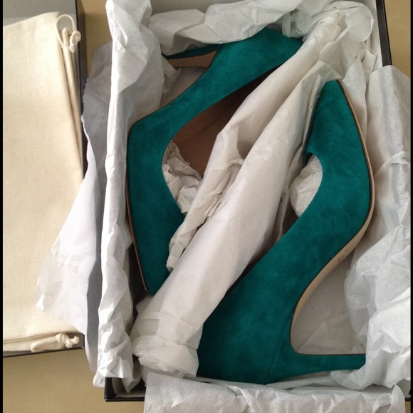 J. Crew Shoes - J.Crew deep emerald everly pump