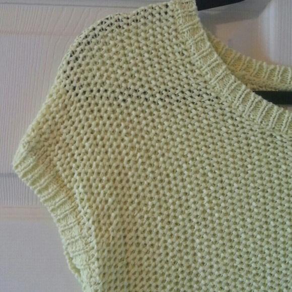 LOFT Sweaters - LOFT Bright Green Knit Sweater - Size S