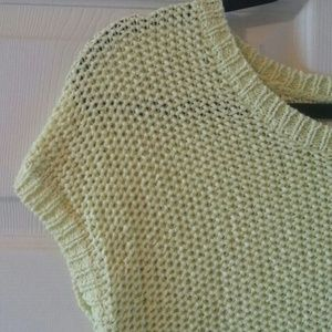 LOFT Bright Green Knit Sweater - Size S