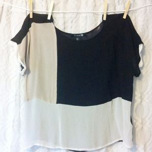 Neutral Color Block Top