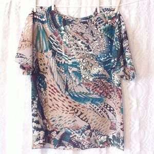 Abstract Woven Top